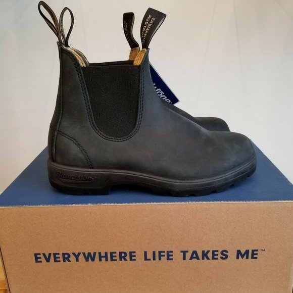 Blundstone 587 Rustic Black Leather Chelsea Boot
